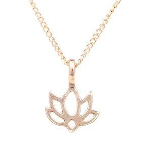 Jewelry - 4 for $25 good karma lotus flower necklace